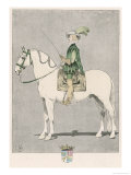 Caesar-Auguste de Bellegarde, Aka Marquis de Termes and Comte de Montbard, French Equestrian Giclee Print by L. Vallet