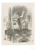 Alice Looking Through the Looking Glass 1 of 2: This Side Stampa giclée premium di Tenniel, John