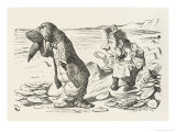 The Walrus and the Carpenter the Walrus Eats the Last Oyster Giclee Print by John Tenniel