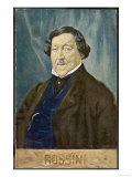 Portrait of Gioachino Rossini, Art Print