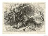 Cherokee Indians Ambush British Soldiers Premium Giclee Print