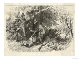 Cherokee Indians Ambush British Soldiers Giclee Print