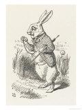 The White Rabbit Checks His Watch Stampa giclée di Tenniel, John