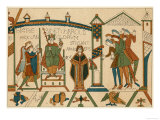 Bayeux Tapestry: Harold is Crowned King of England Premium Giclee Print