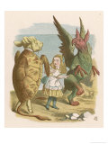 Alice with the Mock Turtle and the Gryphon Giclee Print by John Tenniel