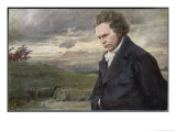 Ludwig Van Beethoven Beethoven out for a Walk on a Windy Day Giclee Print by H. Wulff
