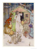 Wendy and Her Wendy House Giclee Print by Alice B. Woodward