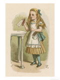 "Alice Holds the Bottle Which Says ""Drink Me"" on the Label Giclee Print by John Tenniel"