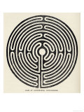 Circular Maze 12 Metres in Diameter at Alkborough Lincolnshire Giclee Print