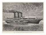 Royal Yacht of the Tsar of Russia Giclee Print by A. Tissandier