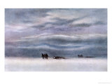 Sledging Party Giclee Print by Edward A. Wilson