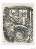 Alice with the Sheep Shopkeeper Giclee Print by John Tenniel
