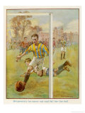 Boy Scores a Goal Giclee Print by Radcliffe Wilson