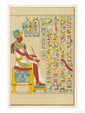 An Example of Egyptian Hieroglyphics Giclee Print