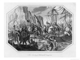 William Duke of Normandy Lands at Pevensey and Prepares to Become William the Conqueror Giclee Print by Rick Tomlinson