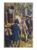 He Commemorates Their Landing in Botany Bay by Inscribing a Record on a Tree Giclee Print by W.r. Stott