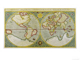 Map of the World by Gerhard Mercator Giclee Print