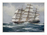 Three-Master Under Sail Giclee Print by J. Spurling