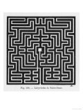 Square Maze in the Church of Saint-Omer France Reproduction procédé giclée