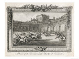 Ancient Rome Gladiators Chariots Etc in the Theatre of Caesarea Giclee Print