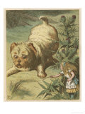 Alice and the Puppy Giclee Print by John Tenniel
