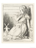 Alice Watches the White Rabbit Disappear Down the Hallway Giclee Print by John Tenniel