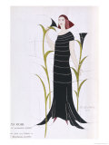 Black Dress by Madeleine Vionnet Inspired by Recent Archaeological Discoveries in Egypt Giclee Print by Thayaht