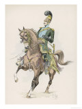 French Mounted Lancer Gicl&#233;e-Druck von L. Vallet