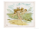 Fairies on Beach Giclee Print by Emily Gertrude Thomson