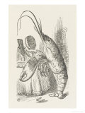 The Lobster at His Toilet Giclee Print by John Tenniel
