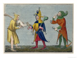Court Jesters of the 14th Century Giclee Print by Joseph Strutt
