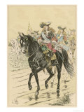 French Marshal of the Royal Household on Horseback Gicl&#233;e-Druck von L. Vallet