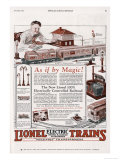 An Advertisement for the New Lionel 100% Elecrically Controlled Railroad Giclee Print