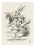 The White Rabbit in Herald's Costume Lámina giclée por Tenniel, John