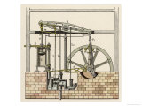 Watt's Steam Engine Circa 1765 Giclee Print by W. Weiler