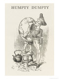 Humpty-Dumpty Screams into the Ear of the Messenger Giclee Print by John Tenniel