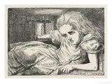 Alice Shrinks and Stretches Alice Grows Too Big for the House Giclee Print by John Tenniel
