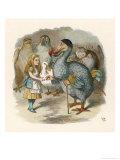 Alice and the Dodo Giclee Print by John Tenniel