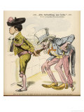 Uncle Sam Takes a Puff at Spain's Havana Cigar Giclee Print by W.a. Wellner