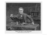 Thomas Alva Edison American Inventor with His Phonograph Giclee Print