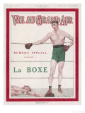 The French Heavyweight Knocks out Another Opponent Giclee Print by Maurice Taquoy