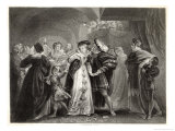 Henry VIII's First Meeting with Anne Boleyn Who Soon Becomes His Mistress Giclee Print by Thomas Stothard