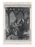 Suffragette Chained to Grille in the House of Commons Giclee Print