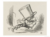 The Hatter Tea and Bread in Hand Runs off Without His Shoes Giclee Print by John Tenniel