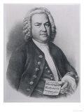 Johann Sebastian Bach with Manuscript of Three-Part Cannon Giclee Print