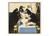 The Seven Ravens at the Dinner Table Giclee Print by A Weisgerber