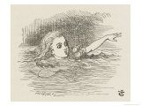 Alice in the Pool of Tears Giclee Print by John Tenniel