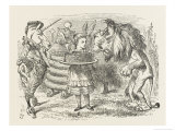 Lion and Unicorn Alice with the Lion and the Unicorn, and a Plum Cake Giclee Print by John Tenniel