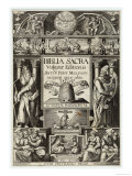 The Title Page of the Vulgate Bible Gicle-tryk
