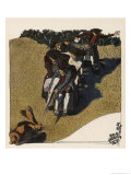 The Swabians Confront a Hare in a Field Giclee Print by A Weisgerber